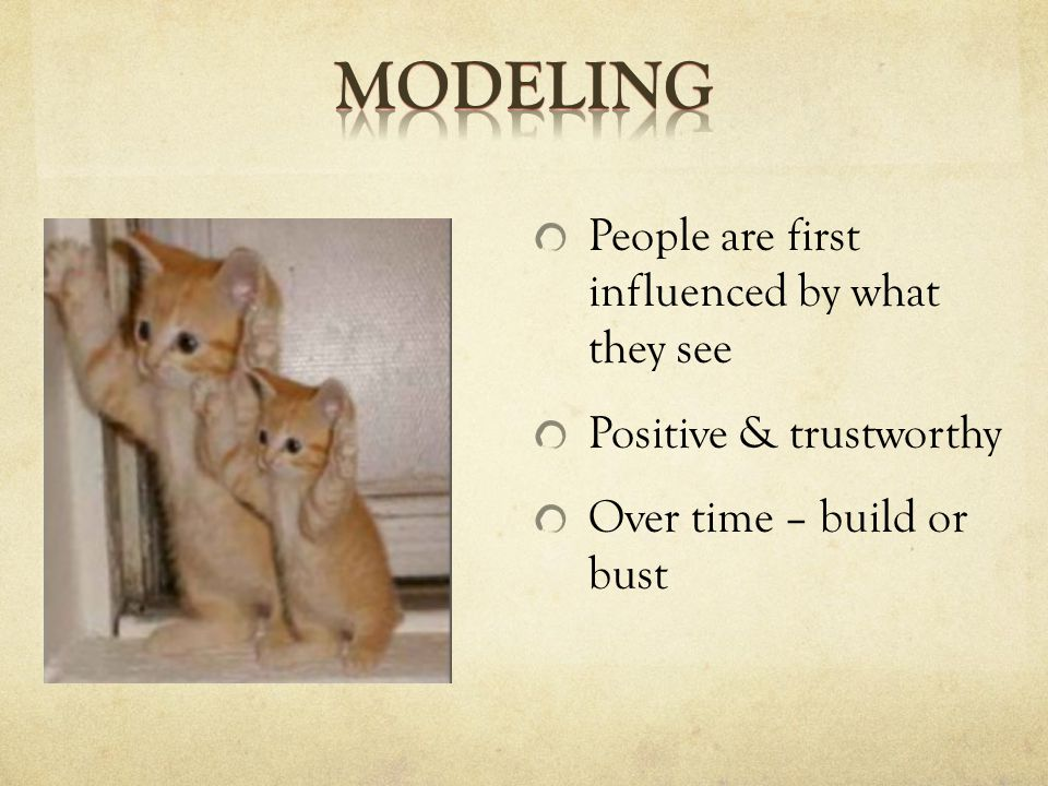 People are first influenced by what they see Positive & trustworthy Over time – build or bust