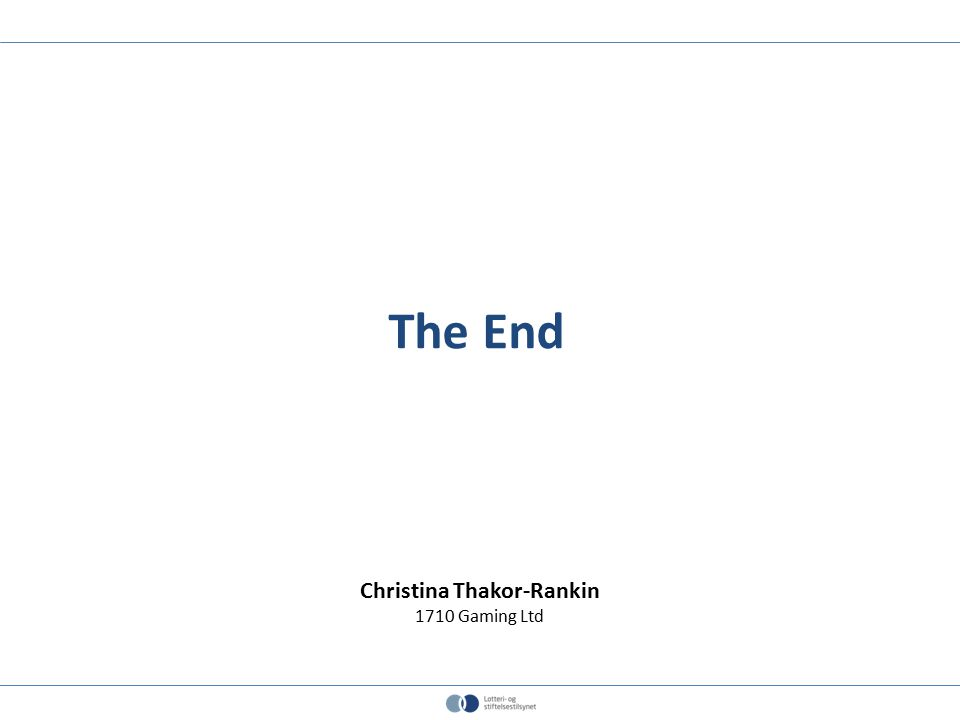 The End Christina Thakor-Rankin 1710 Gaming Ltd