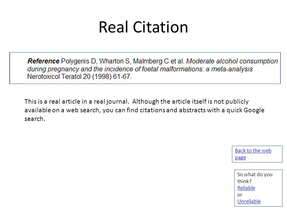 Real Citation This is a real article in a real journal. Although the article itself is not publicly available on a web search, you can find citations