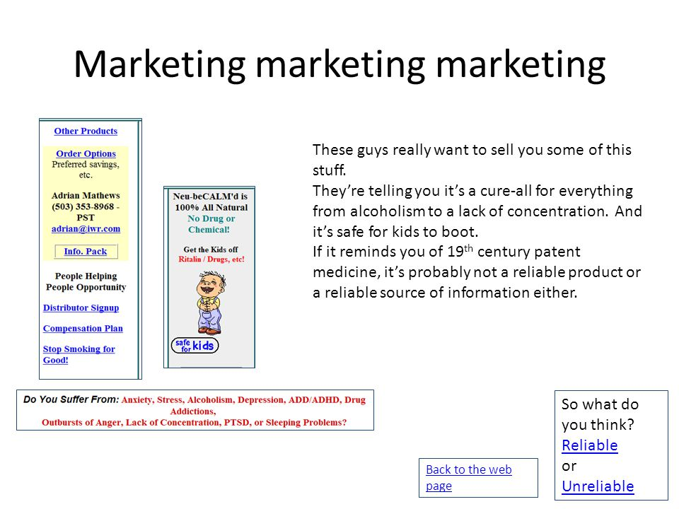 Marketing marketing marketing These guys really want to sell you some of this stuff.