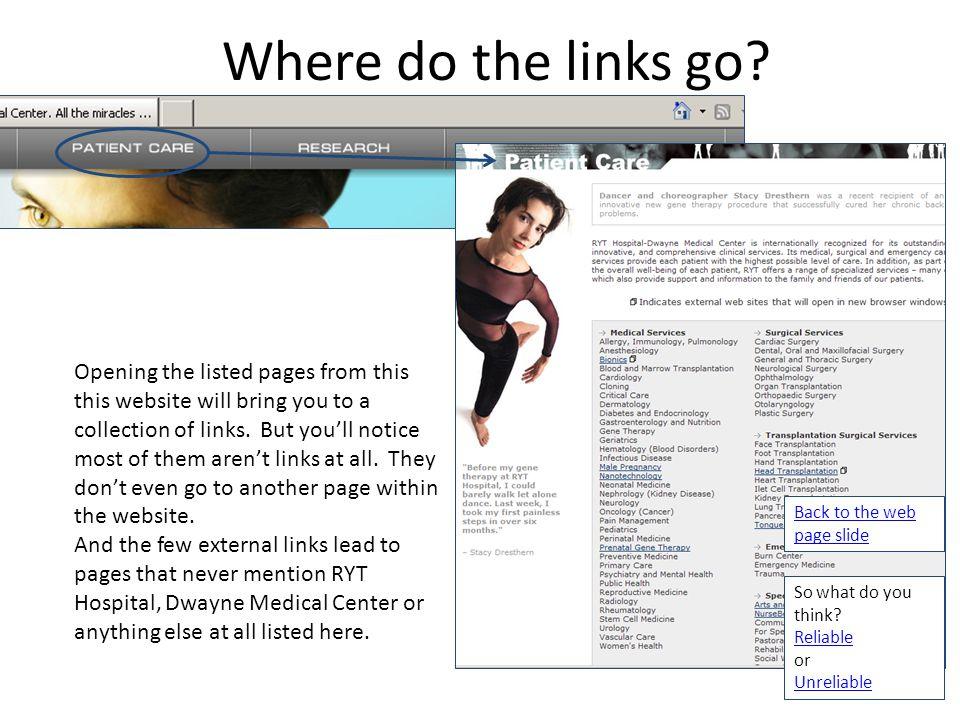 Where do the links go.