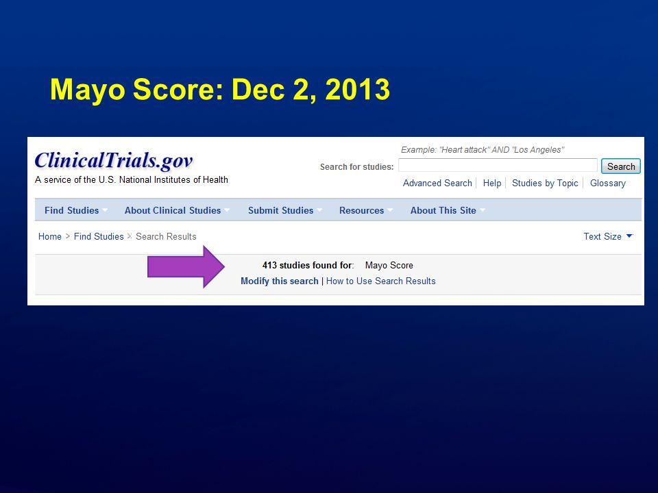 Mayo Score: Dec 2, 2013