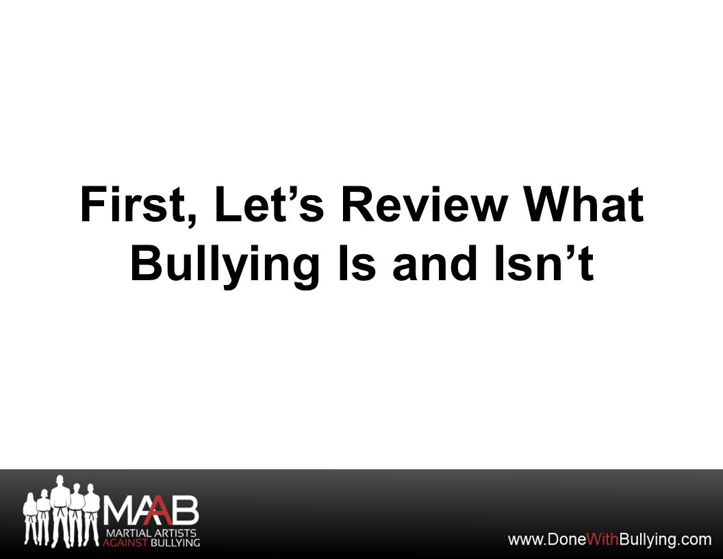Let's Review the Anti-Bullying Pledge