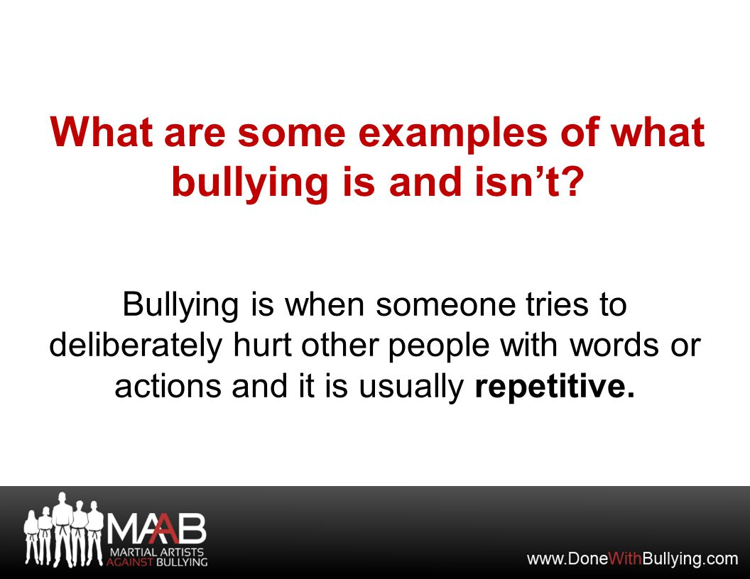If you see someone being bullied and you are not comfortable confronting OR interrupting the bully, you can use the Leave and Report method.