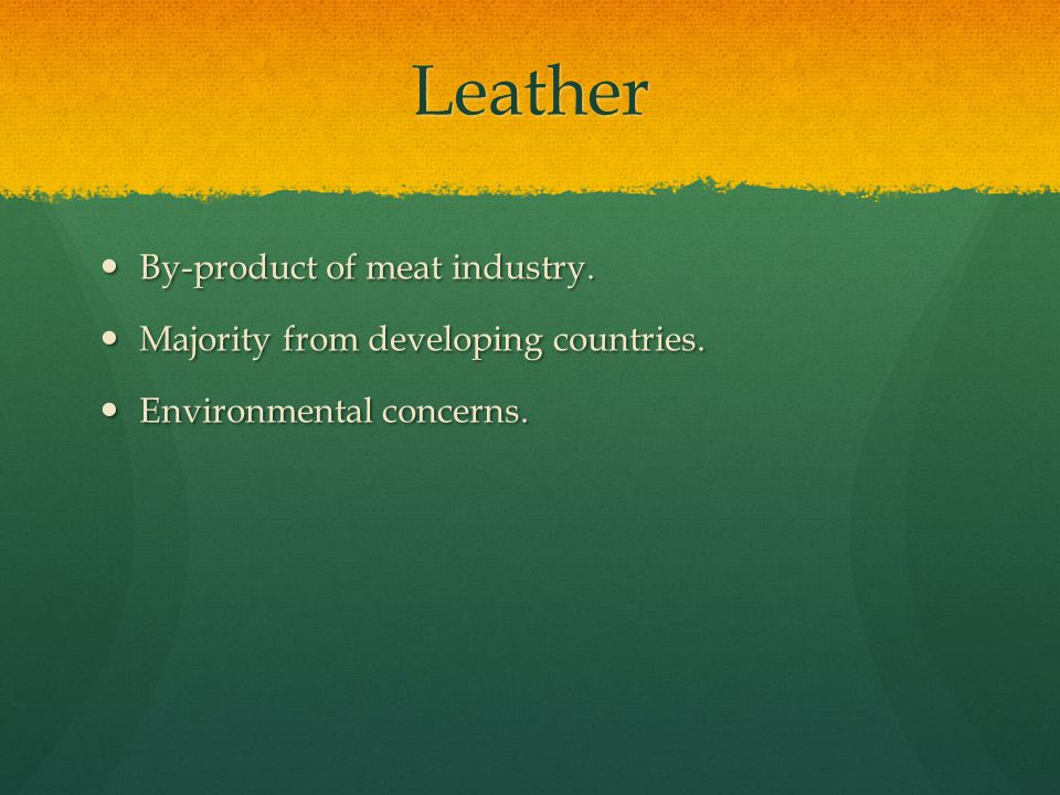 Leather By-product of meat industry.By-product of meat industry.