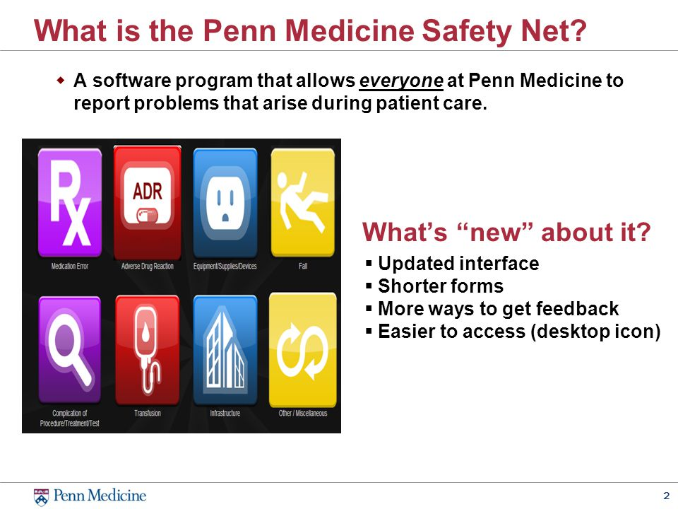 2 What is the Penn Medicine Safety Net.