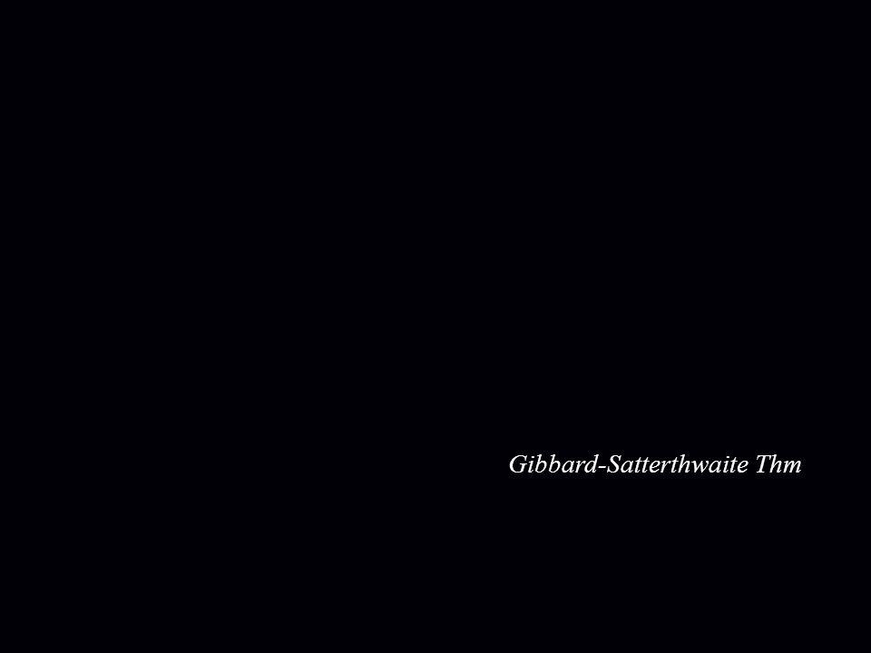 Gibbard-Satterthwaite Thm