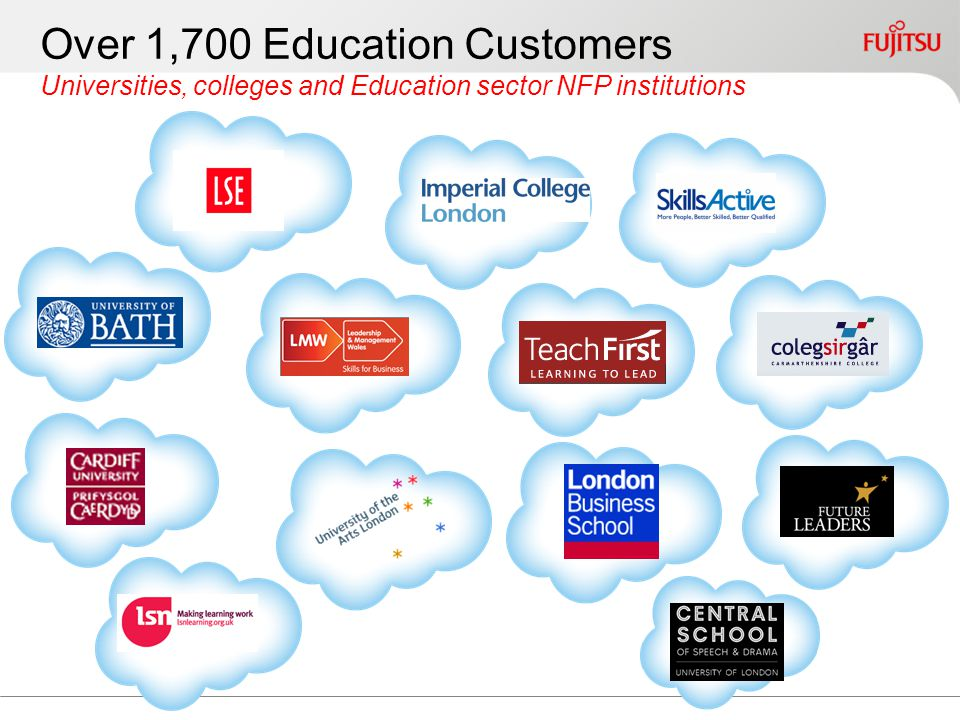 Over 1,700 Education Customers Universities, colleges and Education sector NFP institutions