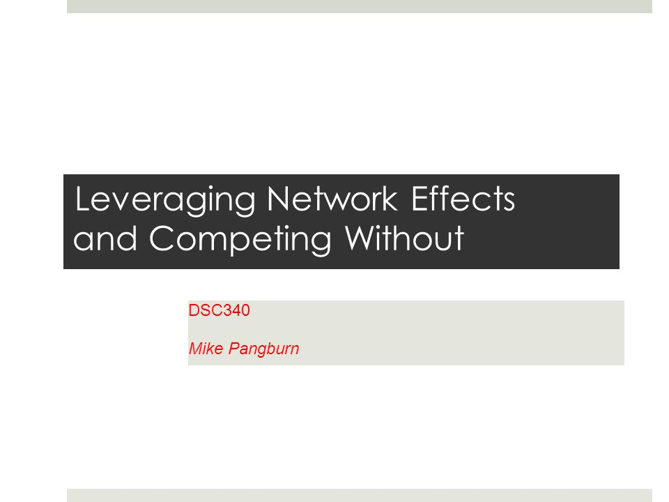 Network effects and IT  Savvy managers look for ways to design-in network effects  E.g., Facebook  Exchange value, Switching cost, Complementary products  Thus, Information Technology can establish competitive advantage via network effects with your firm's product  The strategic role of IT is not limited to tech products with network effects  IT as product versus IT as enabler  The latter applies even for non-tech products  Zara provides a powerful example of leveraging IT as strategic enabler
