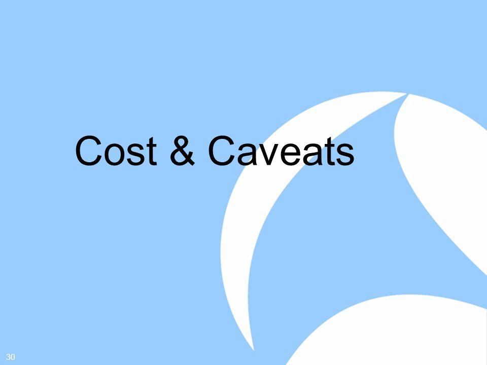 30 Cost & Caveats