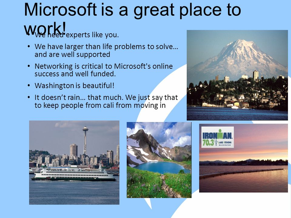 Microsoft is a great place to work. We need experts like you.