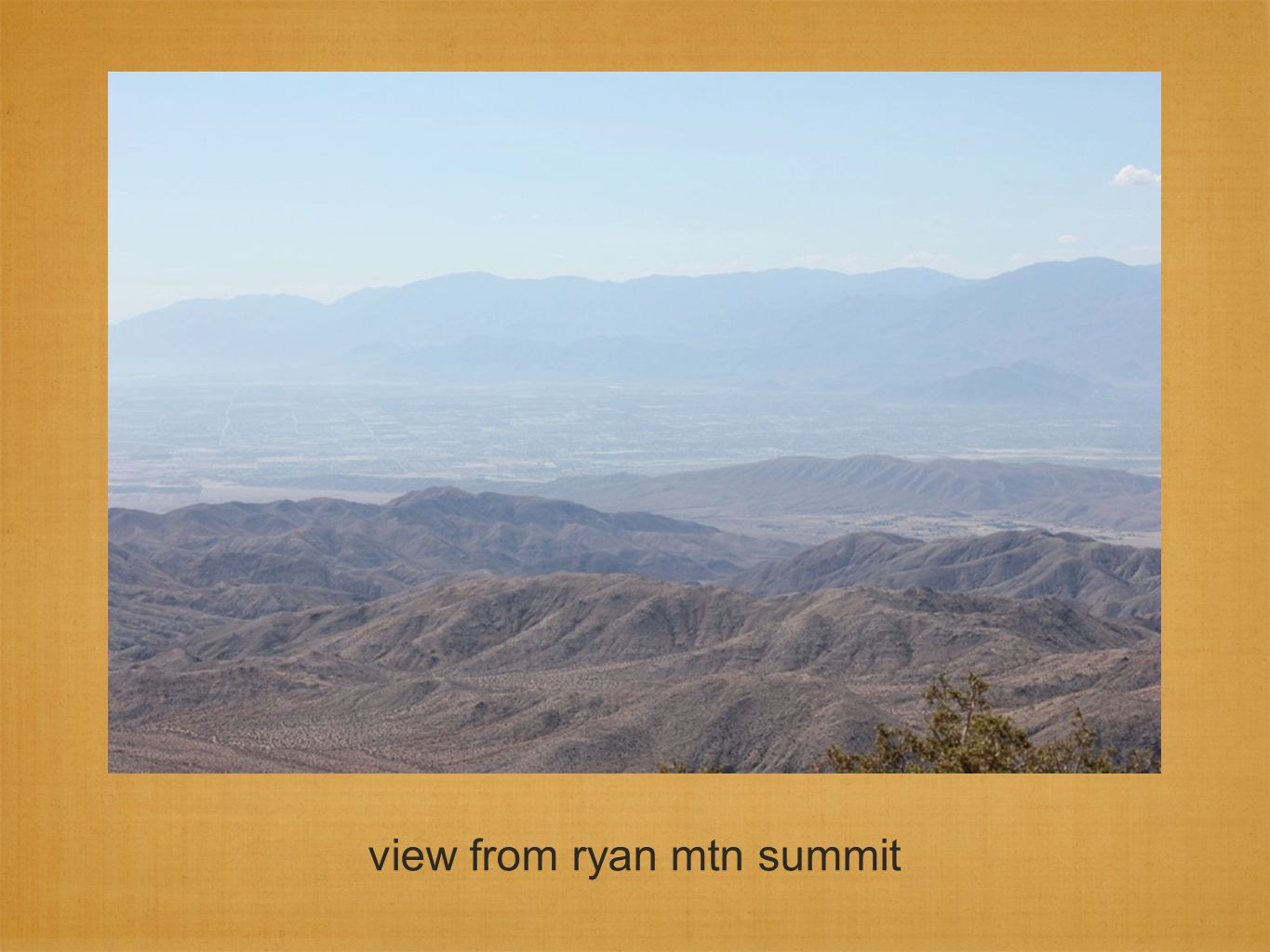 view from ryan mtn summit