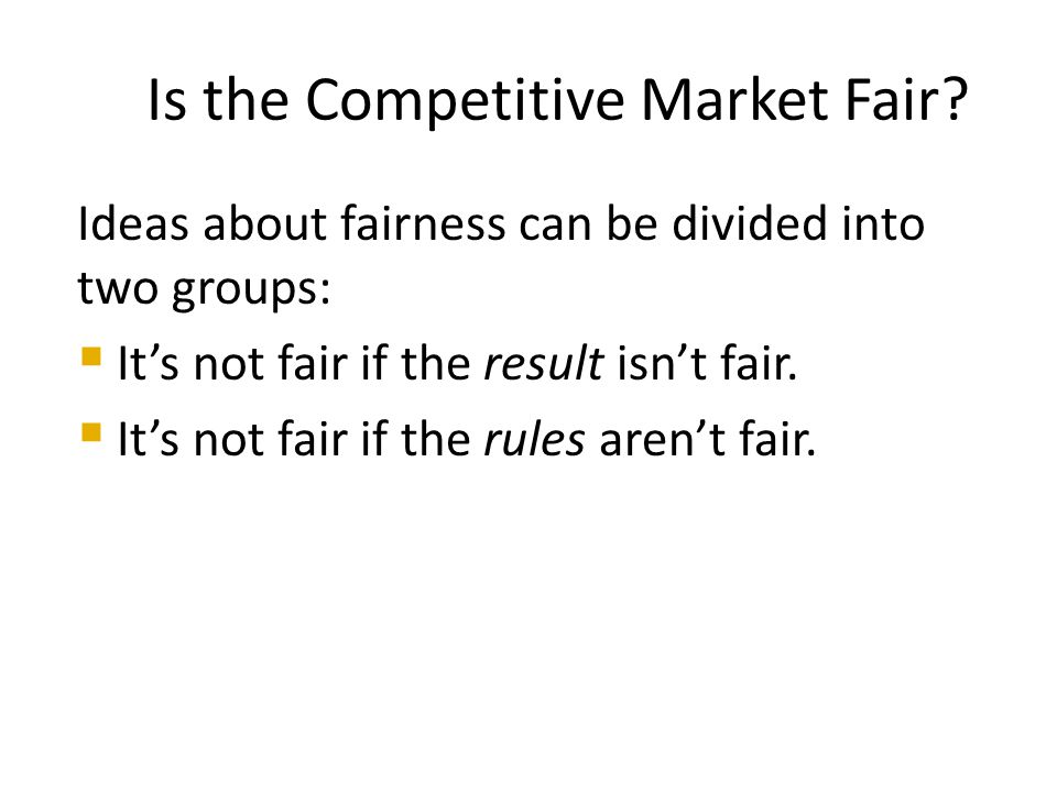 It's Not Fair if the Result Isn't Fair Utilitarianism is the principle that states that we should strive to achieve the greatest happiness for the greatest number. It claims that only when income is equally distributed has the greatest happiness been achieved Is the Competitive Market Fair?