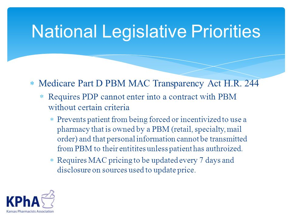  Medicare Part D PBM MAC Transparency Act H.R.