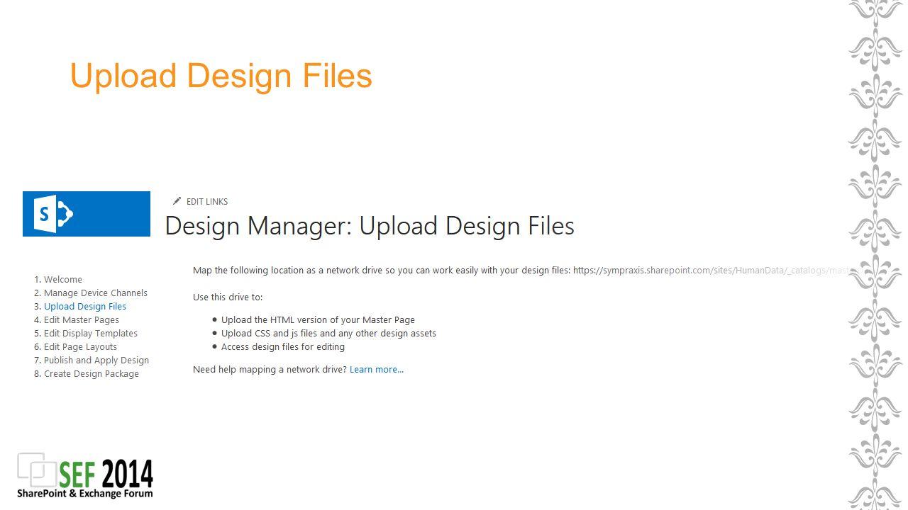 Upload Design Files