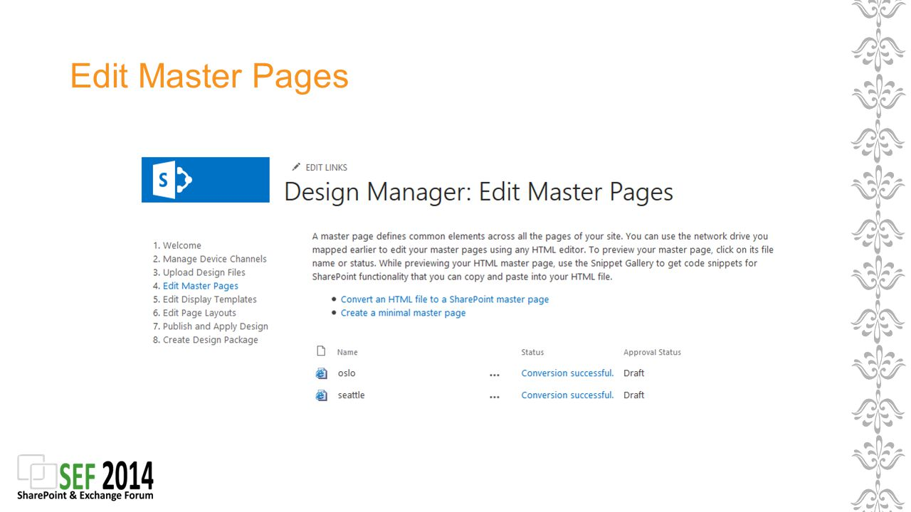 Edit Master Pages