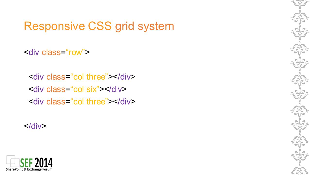 Responsive CSS grid system