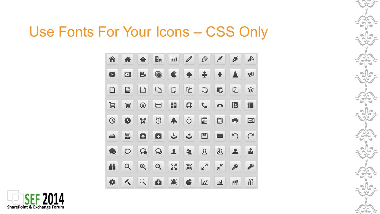 Use Fonts For Your Icons – CSS Only
