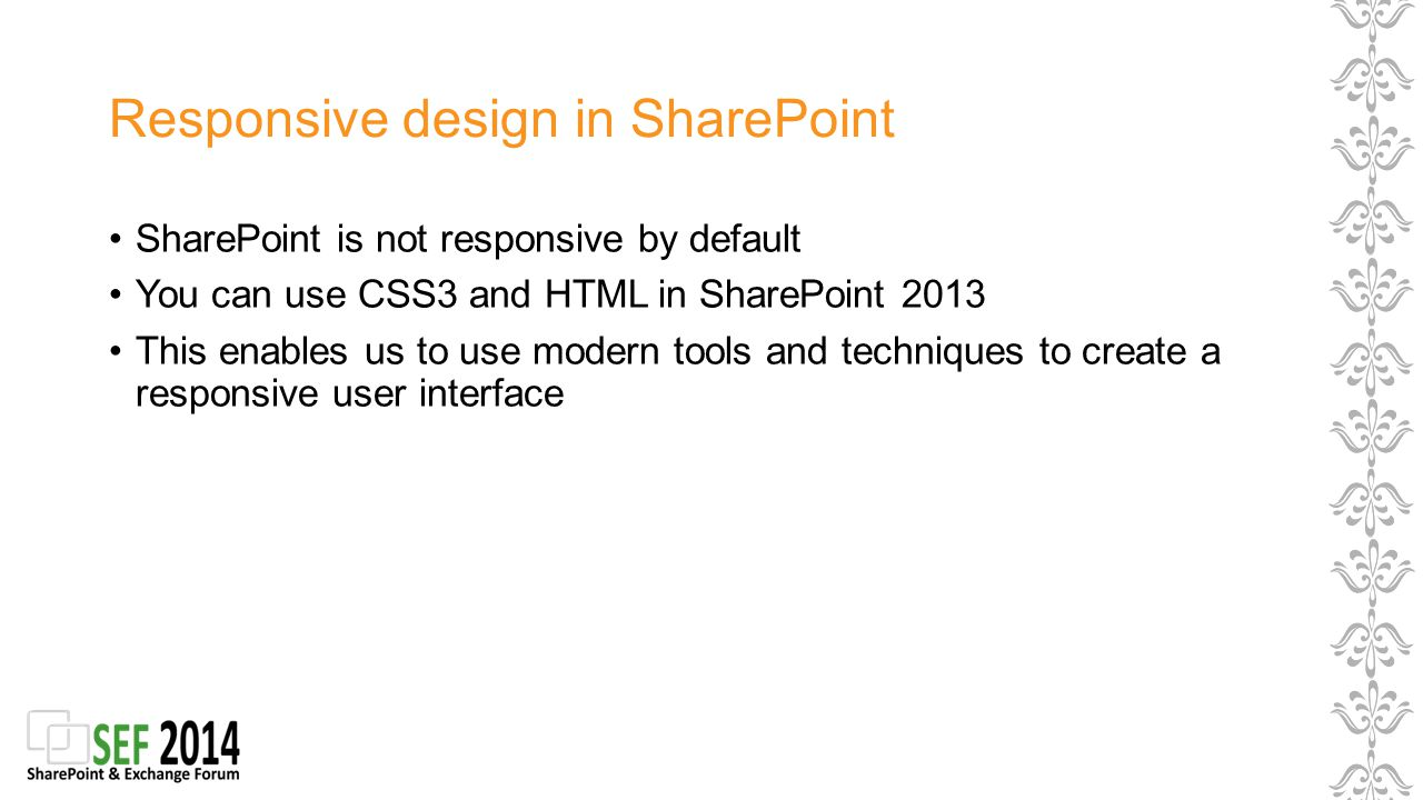 What Does Responsive Design Usually Mean For Sharepoint.