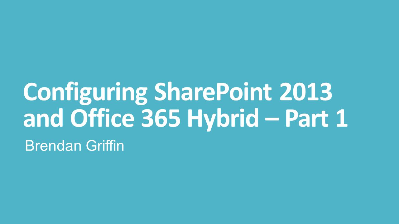 On-Premises Service Applications SharePoint On-Premises requires a number of Service Applications to support Hybrid Secure Store is required for inbound Hybrid User Profile Service required to rehydrate users for Security Trimming