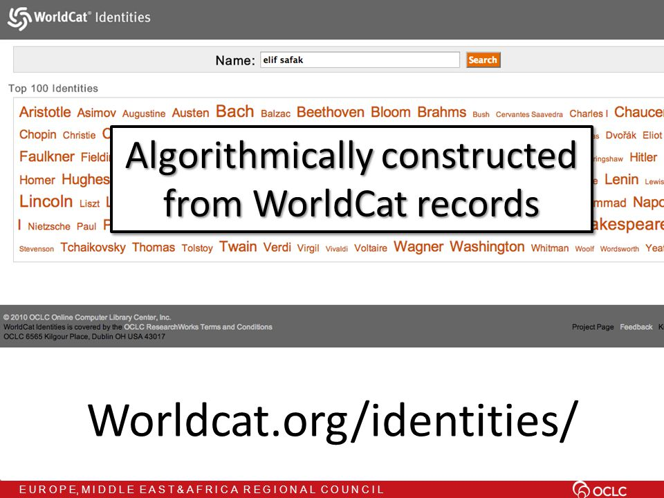 E U R O P E, M I D D L E E A S T & A F R I C A R E G I O N A L C O U N C I L Worldcat.org/identities/ Algorithmically constructed from WorldCat records Algorithmically constructed from WorldCat records