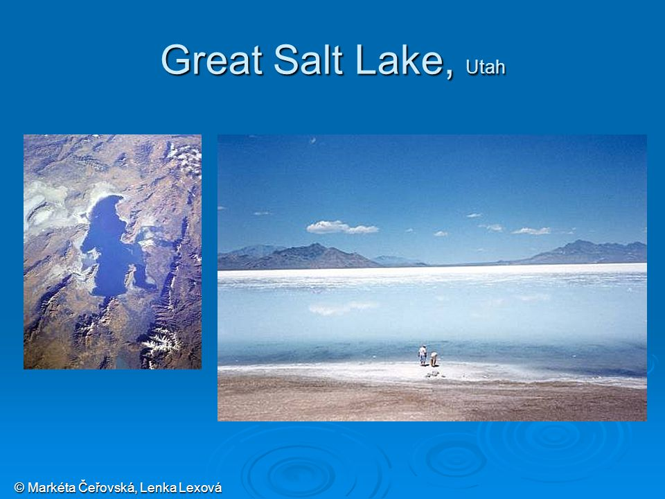 © Markéta Čeřovská, Lenka Lexová Great Salt Lake, Utah