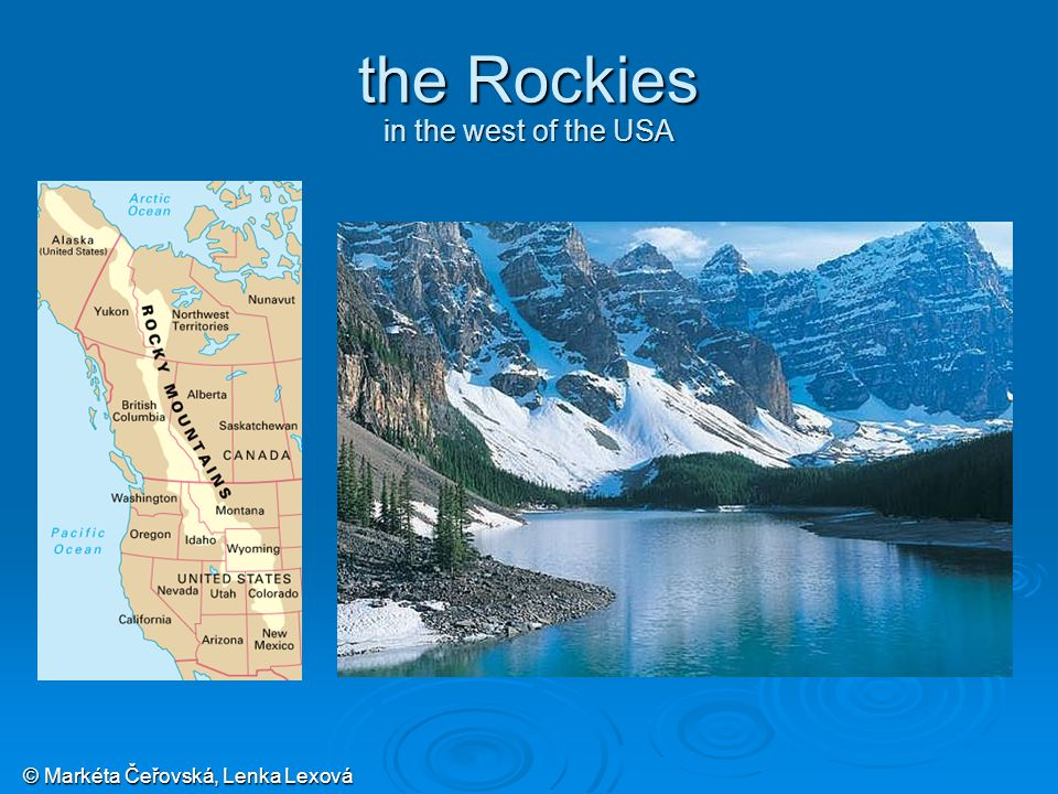 © Markéta Čeřovská, Lenka Lexová the Rockies in the west of the USA