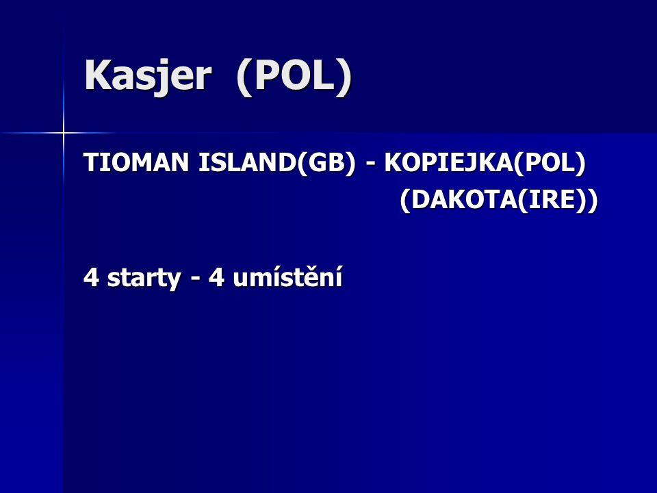Kasjer (POL) TIOMAN ISLAND(GB) - KOPIEJKA(POL) (DAKOTA(IRE)) (DAKOTA(IRE)) 4 starty - 4 umístění