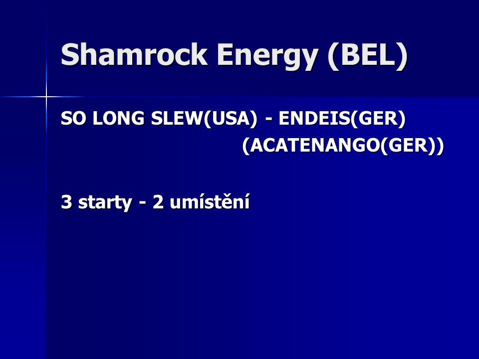 Shamrock Energy (BEL) SO LONG SLEW(USA) - ENDEIS(GER) (ACATENANGO(GER)) (ACATENANGO(GER)) 3 starty - 2 umístění