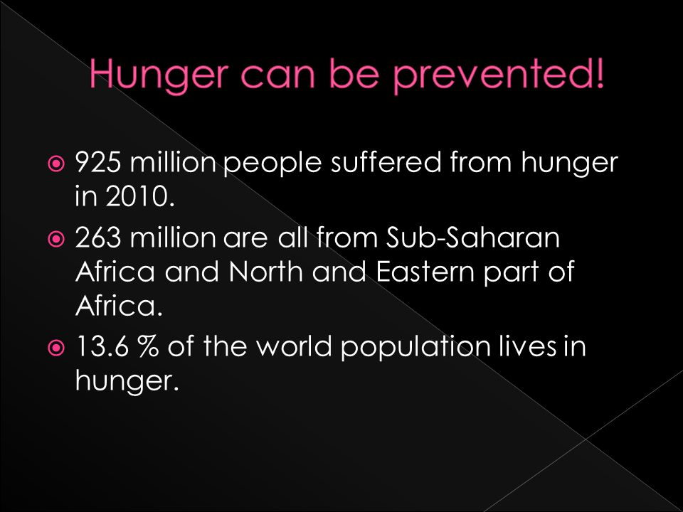 9925 million people suffered from hunger in 2010.