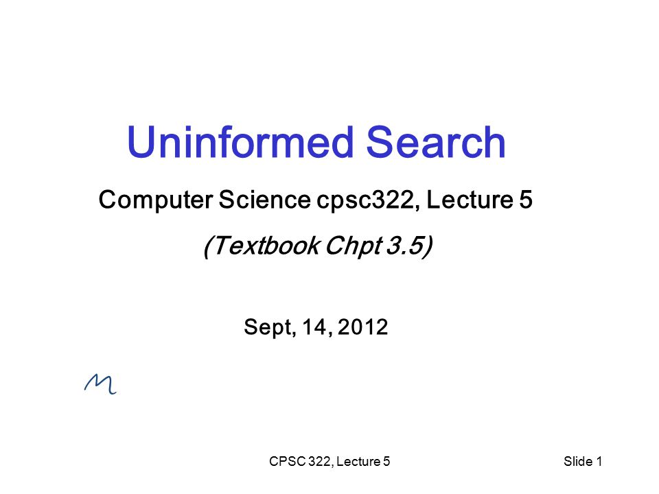 CPSC 322, Lecture 4Slide 2 Search is a key computational mechanism in many AI agents We will study the basic principles of search on the simple deterministic planning agent model Generic search approach: define a search space graph, start from current state, incrementally explore paths from current state until goal state is reached.