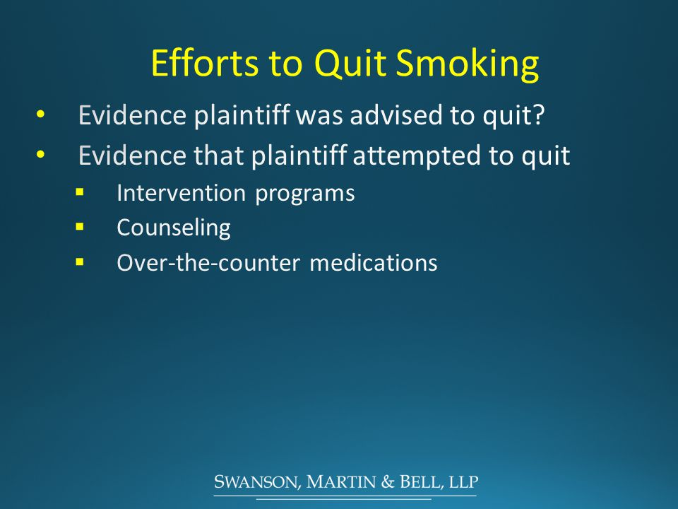 Efforts to Quit Smoking