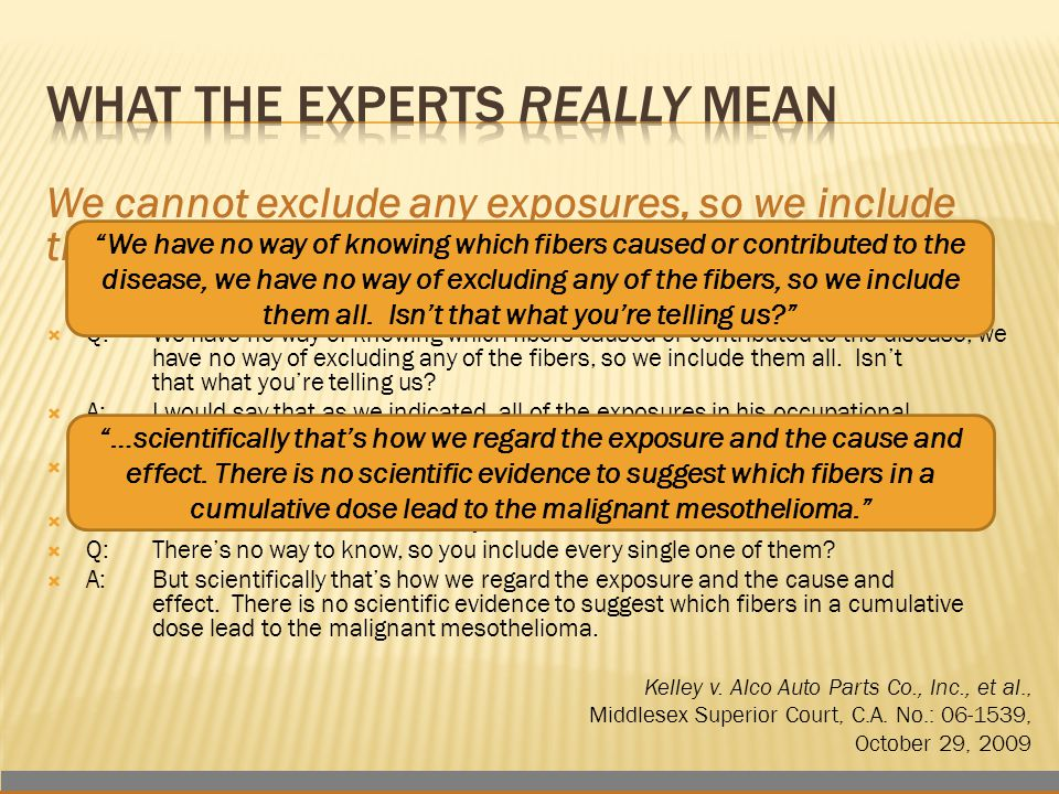 We cannot exclude any exposures, so we include them all.