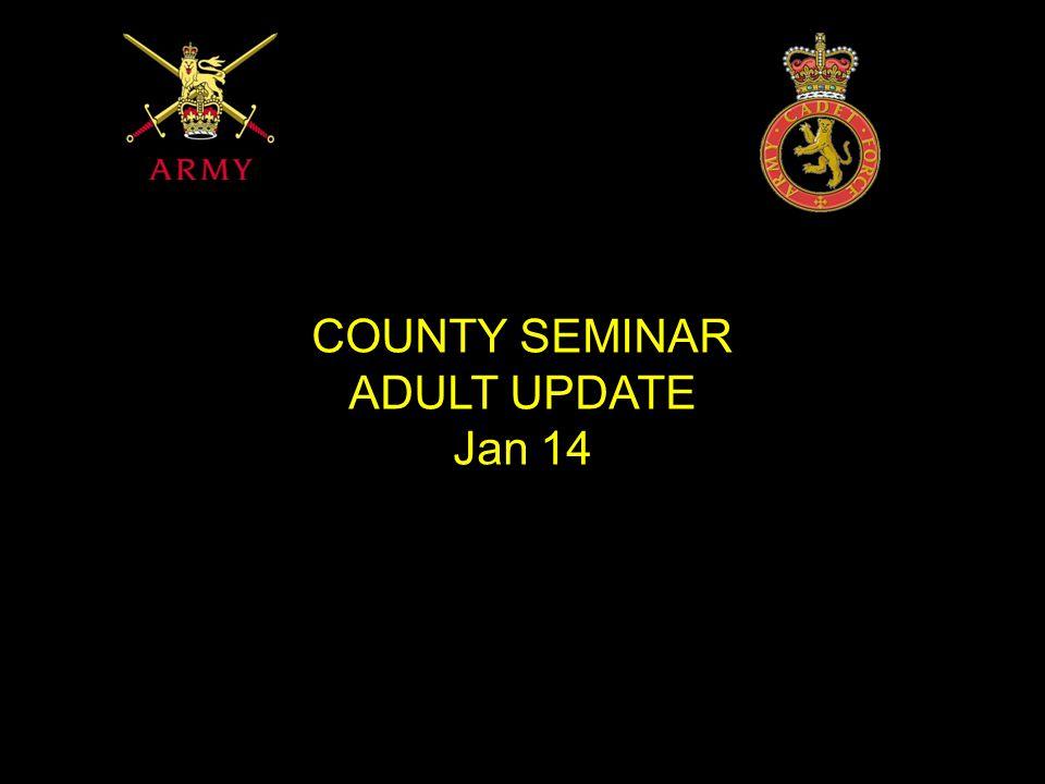 COUNTY SEMINAR ADULT UPDATE Jan 14