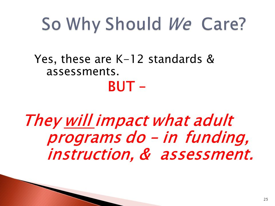 Yes, these are K-12 standards & assessments.