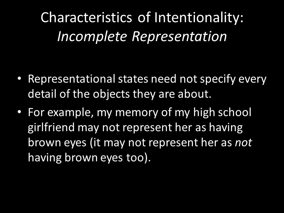 A representational state may be about an item, without being about any particular item.
