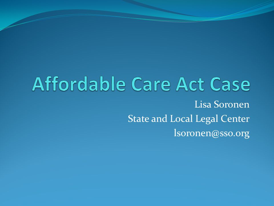 Lisa Soronen State and Local Legal Center lsoronen@sso.org