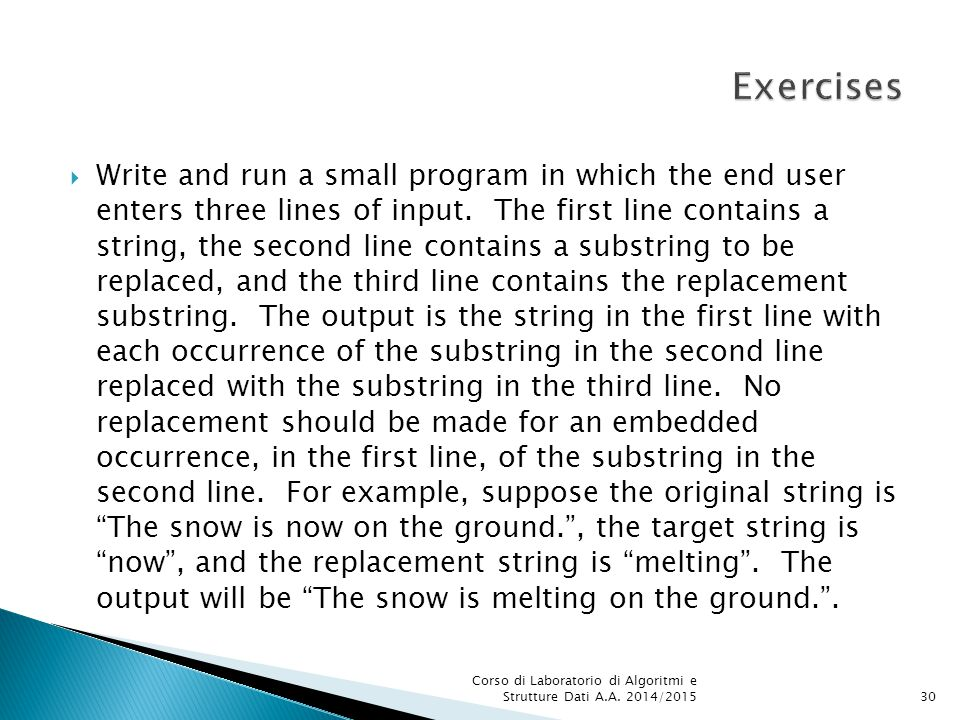  Write and run a small program in which the end user enters three lines of input.
