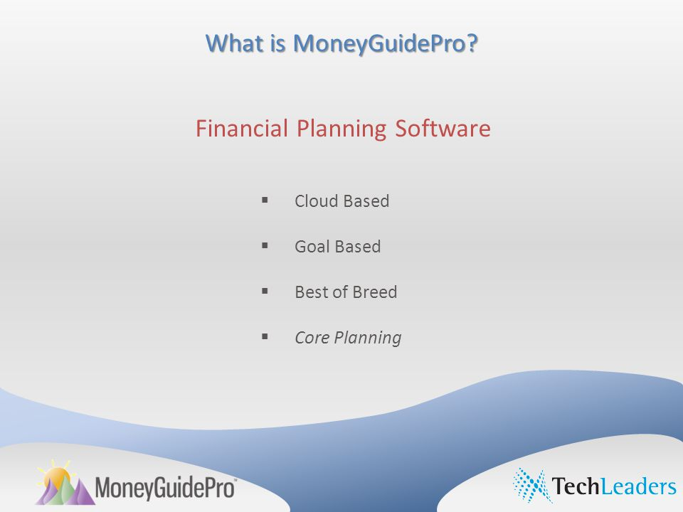 What is MoneyGuidePro.