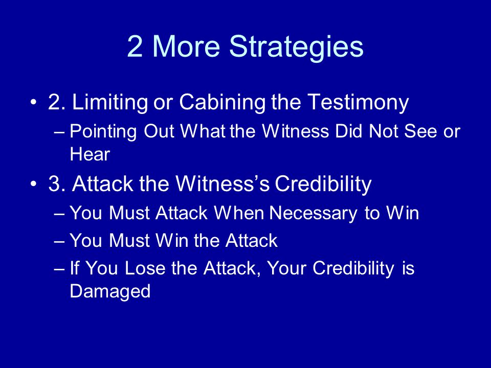 2 More Strategies 2.