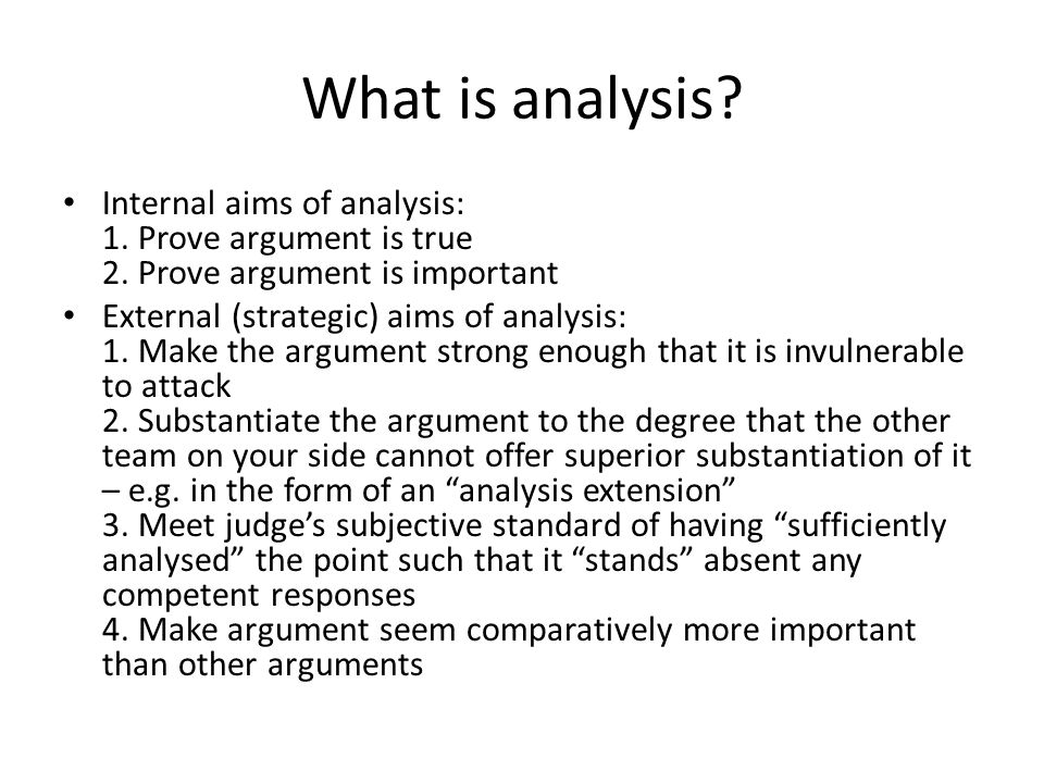 3.My analysis will tear you apart: Sub- Pointing – what is it and why is it important.