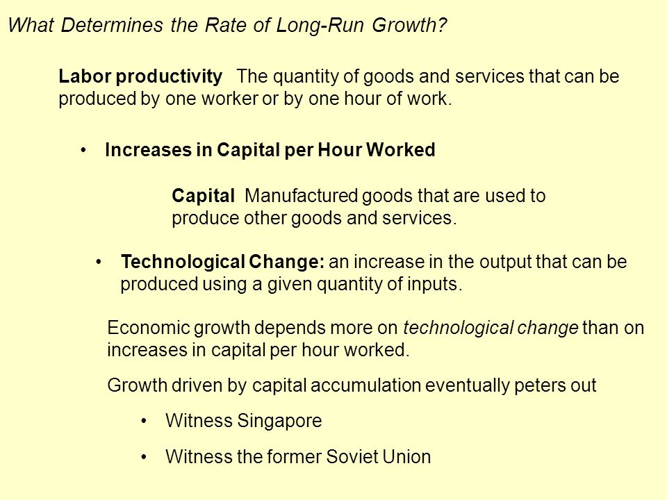 What Determines the Rate of Long-Run Growth.