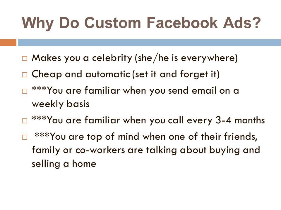 Why Do Custom Facebook Ads.