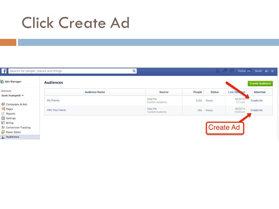 Click Create Ad