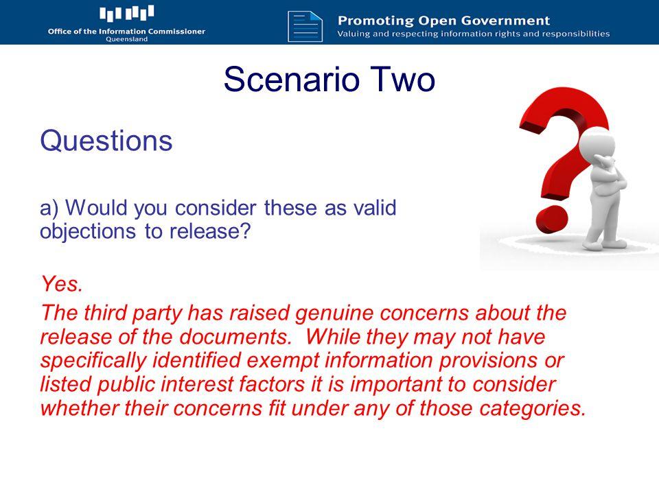 Scenario Four You consult with Alec as a third party.