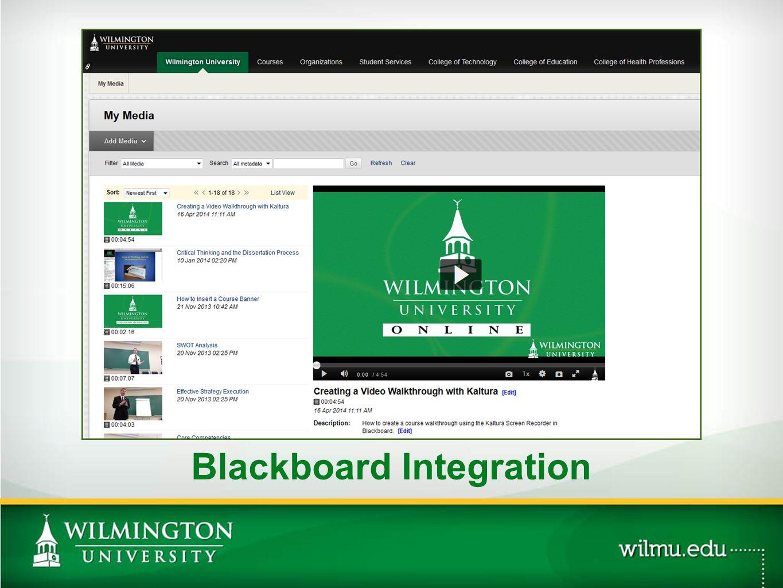 Public-Facing Portal: WilmUTube PHOTO OPTION