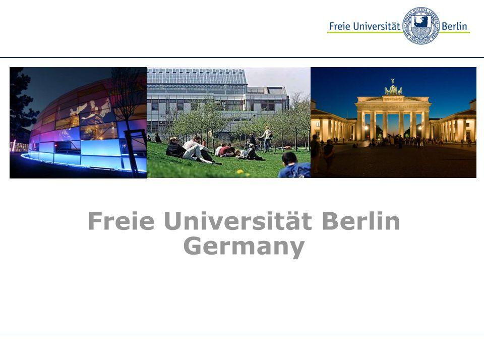 Freie Universität Berlin Germany Musterbild