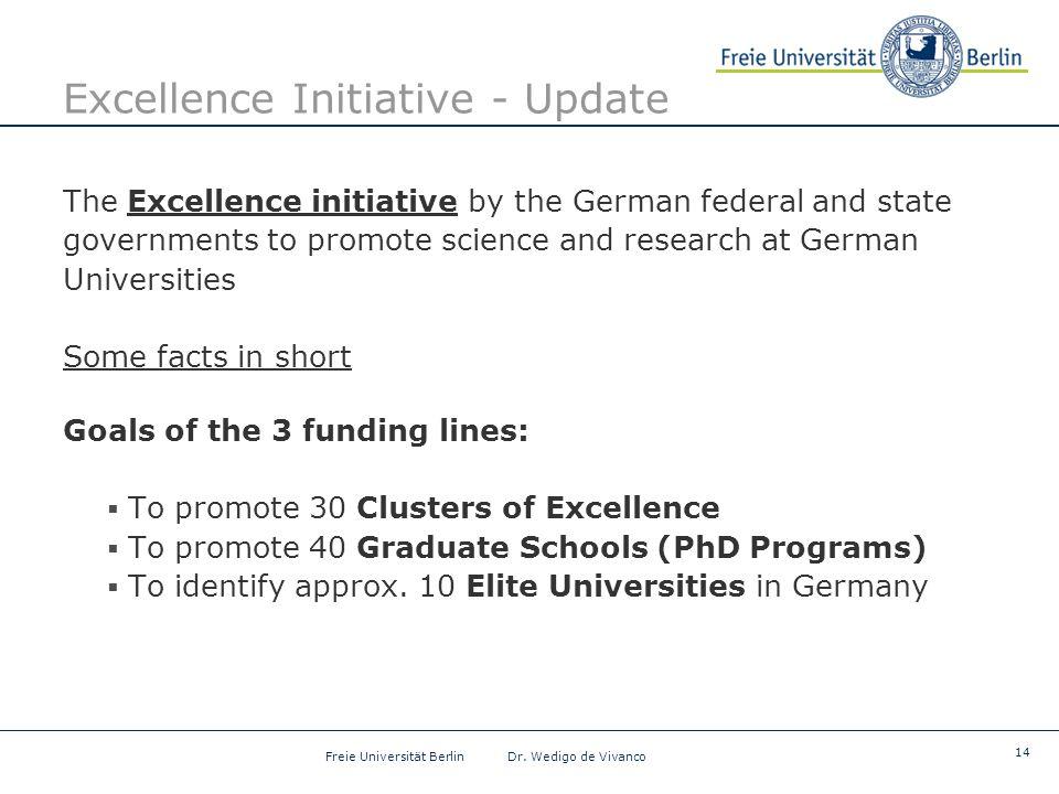 14 Freie Universität Berlin Dr.