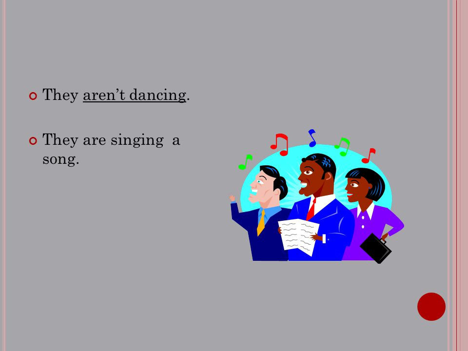 They aren't dancing. They are singing a song.