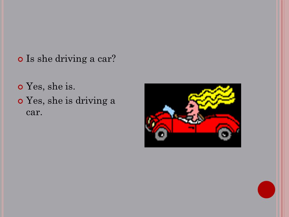Is she driving a car? Yes, she is. Yes, she is driving a car.